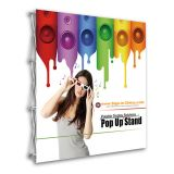 US Stock, 8ft Tension Fabric Pop Up Display Backdrop Stand Trade Show Exhibition Booth and Walls (Frame Only)
