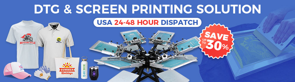 Stock now, pre-holiday sale on screen printing hot