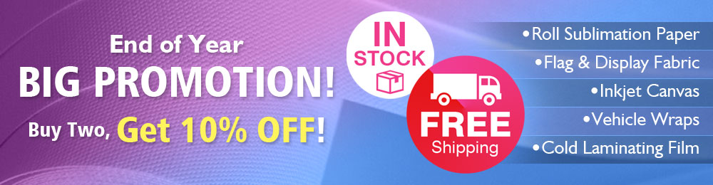 Sublimation & Inkjet Printing Materials- Buy Two, Get 10% Off!
