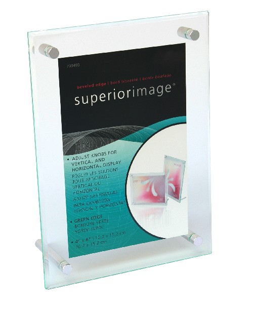 "Bevelled Edge Acrylic Sign Holder - 4"" x 6"""