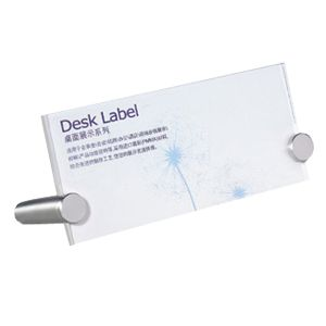 "Desk Label 5.9"" x 2.8"" (150 x 70mm)"