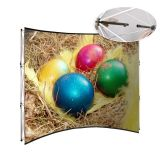 8ft Curved Pop Up Display Stand Backdrop Banner Wall For Advertising (Frame Only)