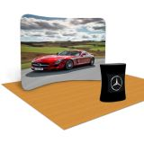 10ft Curved Ensemble Portable Fabric Tension Exhibition Display with Custom Graphic