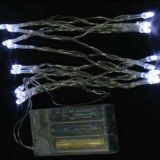 Battery Powered Fairy String Lights 7ft 20 LED 2M, Static + Flash