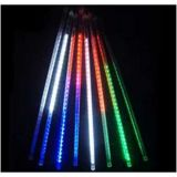 80cm 576 Waterproof LED Meteor Shower Rain String Fairy Flash Light Xmas Tree Decoration (8 pcs/set)