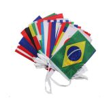 100 Countries Rectangle String Flag 82ft Lenght (0.46ft x 0.69ft)