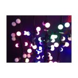 AC220V Φ17mm Color Changing 50LED RGB Ball 16 Feet String for Christmas XMAS Party