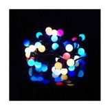 AC 110V Φ24mm Color Changing 50LED RGB Ball 16 Feet String for Christmas XMAS Party