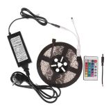 5050 Waterproof RGB Strip + 24 Key Remote Control + 6A Transformer