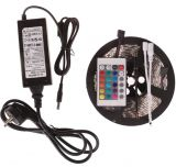 5050 Non-waterproof RGB Colourful Strip + 24 Key Remote Control + 6A Transformer