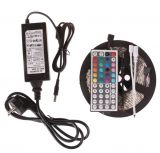 5050 Non-waterproof RGB Colourful Strip + 44 Key Remote Control + 6A Transformer