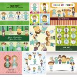 Doctors Cartoon Characters Set Vector Stock Set Illustrations (Free Download Illustrations)