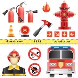 Firefighter Signs Vector Illustrations (Free Download Illustrations)