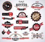 Set of Vintage Badges and Labels Signs Set Vector Illustrations (Free Download Illustrations)
