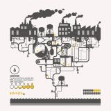 Chemical Plant Concept for Environmental Protection Flat Vector Poster (Free Download Illustrations)