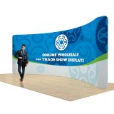 17ft Curved Back Wall Display with Custom Fabric Graphic (Graphic Included/Single Sided)