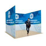 10ft U Shape Back Wall Display with Custom Single Sided Fabric Graphic