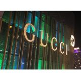 Front Lit LED Punch Exposed Channel Letter, Pierced Metal Border