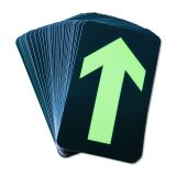 "Waterproof Emergency Straight Arrow Glow in the Dark Exit Stickers Decal 5.5"" x 11.6"""