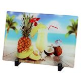 """10.6"""" x 7.0"""" Glossy Square Sublimation Blank Glass Photo Frame"""