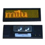 Yellow LED Name Badge Whit Scrolling Message (102 x 33 x 5mm)