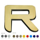Metallic Coating Custom Decorative Acrylic Letters (Height: 13.81-23.6 inch)