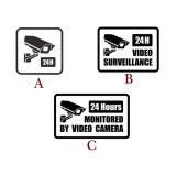 Video Surveillance Security Burglar Alarm Decal Warning Sticker Signs (Three Styles Available)