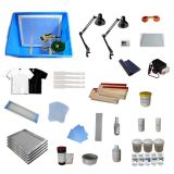 4 Color Silk Screening Supply DIY Screen Printing Material Kit