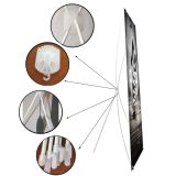 80 x 180cm White Separable X Banner with Bearing Hook