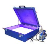 "110V 240W  Vacuum Exposure Unit 24"" x 26"" Precise Screen Printing Compressor Outside"