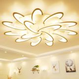 Modern LED White Acrylic Ceiling Lights for Living Room Bedroom Chandelier Hot 15 Heads