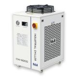 S&A CW-6200AI Industrial Water Chiller (2.28HP, AC 1P 220V 50HZ) for Dual 200W CO2 Glass Laser Tubes or Welding Equipment