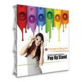 8ft Tension Fabric Pop Up Display Backdrop Stand Trade Show Exhibition Booth and Walls(Graphic Only/single Sided)