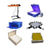 US Stock-Screen Printing Full Package Flash Dryer&UV Exposure Unit&Screen Drying Cabinet&Screen Stretcher&Aluminum Screen