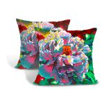 Cushion Cover Pillow Cover Throw Pillow Case, Decorative Square Artistic Design Pillow Case (Pattern 1)