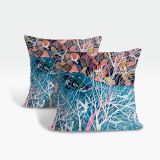 Cushion Cover Pillow Cover Throw Pillow Case, Decorative Square Artistic Design Pillow Case (Pattern 3)