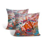 Cushion Cover Pillow Cover Throw Pillow Case, Decorative Square Artistic Design Pillow Case (Pattern 2)