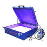 "110V / 220V 240W Calca Vacuum Exposure Unit 24"" x 26"" Precise Screen Printing Compressor Outside"