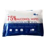 40pcs 75% Alcohol Antibacterial Wet Wipes 70 Pacrels/Carton