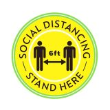 5PC Social Distancing Flooring Tile Sticker