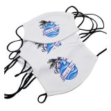 "5.3"" x 7"" Sublimation Filter Insertable Face Mask (Black or White Strap)"