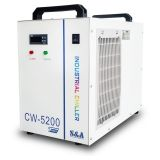 Mexico Stock, S&A CW-5200TH Industrial Water Chiller for One 8KW Spindle / Welding Machine / One 130-150W CO2 Glass Laser Tube Cooling, 0.68HP, AC 1P 220V, 60Hz