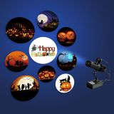 20W Indoor Black Remote Control LED Gobo Projector Advertising Logo Light (with Rotating Glass Gobos) for Halloween