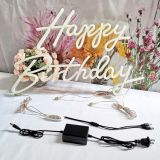 Divatla Happy birthday Neon Sign for any age, Size- 16.58inches+23 X 8inches