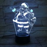 3D acrylic Light, with 7 Color Changes, Dimmable LED Night Light, Remote Control and Smart Touch Santa Claus Type1