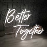 Divatla Better Together Neon Sign Size23.5x10inches+17.3 x8.7inches