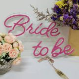 US Stock Divatla LED Neon Sign Bride to be , Sign Length 28.59.5inches