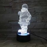 3D acrylic Light, with 7 Color Changes, Dimmable LED Night Light, Remote Control and Smart Touch Santa Claus Type2