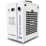 US Stock, S&A CW-6000DN Industrial Water Chiller for 100W Solid-state Laser, 22KW CNC Spindle, 30W-300W Fiber Laser Cooling, 1.52HP, AC 1P 110V, 60Hz