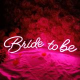 CALCA LED Neon Sign Bride to be ,Integrative Sign Length 28.59 X 7.28inches(Pink)